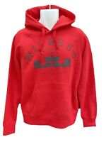 NEW Vintage NIKE LEBRON Witness Cotton Fleece Pullover Hoodie Red M