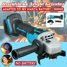 100mm 4'' Brushless Cordless Angle Grinder Replace For 18V Makita Li-ion Battery