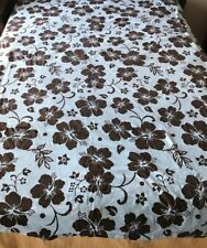 Pottery Barn Teen Devut  Cover Twin  Blue With Brown Flowers