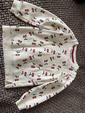 TU Girls Swearshirt Age 5-6 Years Glitter Cherry Pattern