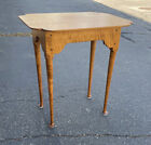 Vintage Eisenmann handcrafted tiger maple stand Queen Anne style night bedside
