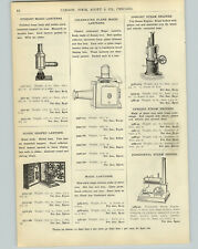 1905 PAPER AD Plank Magic Lantern Toy Steam Engine Cork Pop Warrior Air Rifle
