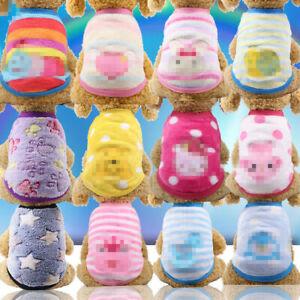 Pet Cartoon flannel warm tea cup dog little milk dog cat Teddy clothes vest