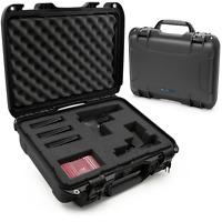 "CM Padded Gun Storage 18.5"" Waterproof Hand Gun Case Pistol Safe w/ Foam"