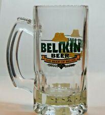 "Belikin Thick Beer Glass Mug Stein ""The Beer of Belize"" San Pedro"