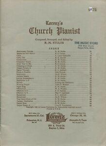Lorenz's CHURCH PIANIST by R. M. Stults Lorenz Publishing Company ©1928