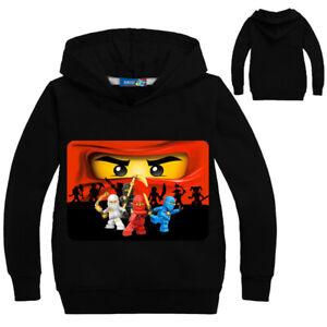 New Lego Ninjago Game Boys Girls lightweight long sleeve top hoodie suit 4-14