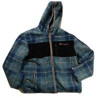 Champion mens size Large Long Sleeve Reversible jacket 100% Authentic multicolor