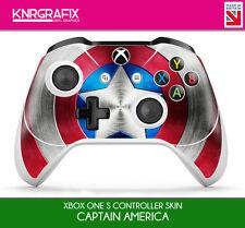 KNR6652 CAPTAIN AMERICA SHIELD PREMIUM XBOX ONE S CONTROLLER SKIN STICKER DECAL