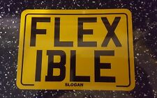 Flexible 7x5 TEXT motorcycle novelty motorbike bike TEXT plate NOT NUMBER PLATE
