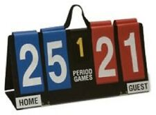 Flip Scoreboard Portable Sports Game Soccer Basketball Home Guest 5 Period Vinyl