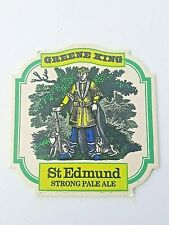 Vintage GREENE KING  /  ST EDMUND STRONG PALE ALE Cat No'75  Beermat / Coaster