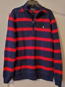 Polo Ralph Lauren Boys  Sweater Pullover 1/4 Zip *Large 14-16* Yellow Logo