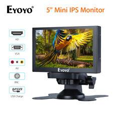 EYOYO 5 Inch Mini IPS Monitor With VGA/HD/BNC/AV Video Input 400cd/m2 For PC DVD