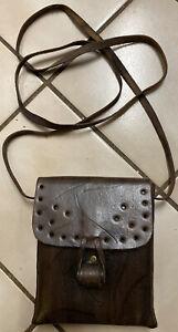Vintage 60's-70's  Leather Shoulder Cross body Bag Purse , small bag / UNISEX
