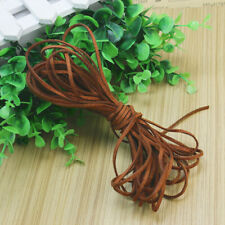 1 Roll Suede Leather String Cords For Bracelet Necklace Jewelry Making DIY Brown