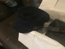 Men's Gucci Military style navy cap medium gold letters wool 1921 star