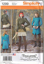 Steampunk Gothic Coat Jacket Bustle Skirt Costume Sewing Pattern 14 16 18 20 22