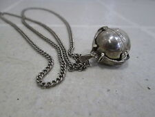 Sterling Silver Reproduction Victorian Folding Ball Locket Mexico