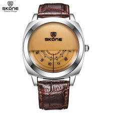 SKONE Genuine Men & Women Wristwatch Special Military Sport Watch Men Brown