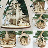 Christmas Tree Wooden Home Decor Snowflakes Merry Xmas Hanging Ornament A+++ SO
