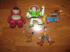 5 Toy Story Figure Buzz, Woody Slinky Lots-o'-Huggin' Bear bullsey Disney Lot