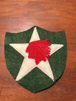 WWI US Army 2nd Division,supply patch wool