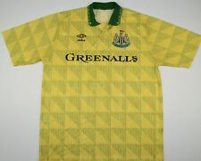 1990-1991 NEWCASTLE UNITED UMBRO AWAY FOOTBALL SHIRT (SIZE L)