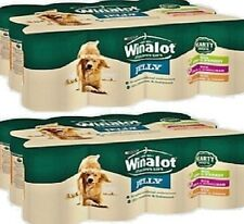WINALOT MIXED VARIETY x24 - 400g (12pack x2) - Wet Dog Food Canned Pet Feed bp