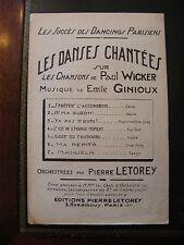 Partition Les Chansons de Paul Wicker Emile Ginioux