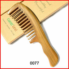 Natural fragrant sandalwood wide teeth curly hair health massage gift comb 0077