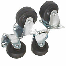 4 Piece 40mm Castor Set Fixed and Swivel RM005