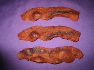 Fried Bacon, Wax, 3 pcs. Fake Food