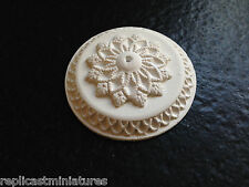 "Mn05f Ceiling ROSE 2,36 ""LARGE Plain GESSO replicast Miniatures DOLLS HOUSE"