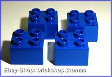 Lego Duplo 4 x Vierer 2 x 2 blau (3437) Brick Blue - NEU / NEW
