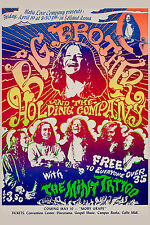 Psychedelic:  Janis Joplin & Big Brother at Sacramento Selland Arena Poster 1968