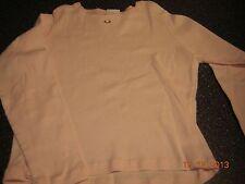 NWOT Girls M 7 8 long sleeve pink shirt - tiny flower on neckline - Cherokee
