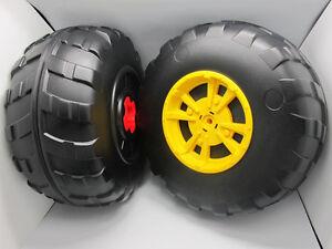 John Deere Peg Perego Gator XUV Rear Wheel Set (2 Tires) Left & Right - **NEW**