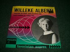"""Vanavond Om Kwart Over Zes Ben Ik Vrij Willeke Alberti~Holland 7"""" 1965 Pop Vocal"""