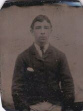 ANTIQUE TIN TYPE PHOTO -YOUNG MAN