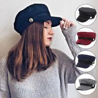 Fashion Women Ladies Girls Berets Cotton Blend Baker Boy Peaked Cap Newsboy Hat
