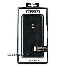 Ferrari 458 Leather Snap Cover Case for iPhone 6 Plus iPhone 6s Plus Black/Gold