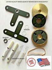 00-04 Corvette 93-02 Firebird Headlight Motor Repair Kit Brass Gear LH & RH