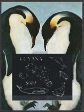 Guyana - 1992 penguin dolphin silver s/s imperf