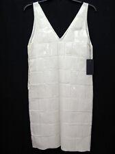 Prada 100% Silk Organza Sheath Dress Embellished with Plexi Squares NWT Sz. 38