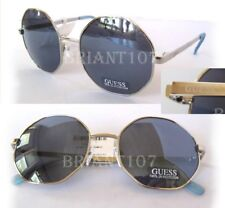 New GUESS GF0319 Silver/Blue Hexagon shape Womens Sunglasses $80