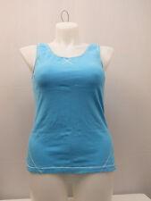 Women Athletic Top SIZE XL DANSKIN Blue Sleeveless Scoop Neck Athletic Wear Yoga