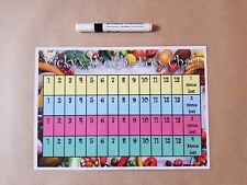 Weight Loss Chart, A4 Homemade laminated & dry wipe pen, 4 stone to lose