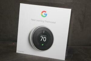 Nest T3019US Programmable Thermostat Polished Steel New in Sealed Box