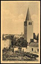 cartolina PARENZO-basilica eufrasiana(IV sec.)vista dall'orto dell'episcopio